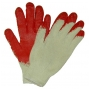 Wholesale Working Gloves - Red Latex Coated Work Gloves - 10 Pairs