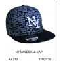 Wholesale New York Fitted Hats - Flat Bill Hats - 1 Doz