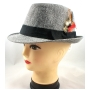 Wholesale Fedora Hats - Fedora with Feather - 10 Doz