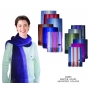 Wholesale Scarves - Stripe Scarf with Fringe Ends - 10 Doz