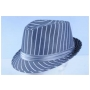 Wholesale Pinstriped Fedora Hats | Pinstripe Fedora Hat | 8DZ