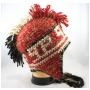 Wholesale Mohawk Hat - Mohawk Earflap Winter Hats - 6 Doz
