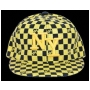Wholesale NY Checker Fitted Hats | Flat-Bill Hats | 1 DZ