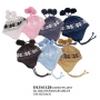 Wholesale Kid's Chenille Earflap Hat with Pompoms – 12 DZ