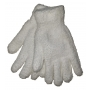 White Winter Gloves - White Fuzzy Gloves - 1 Pair