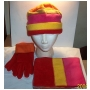 Wholesale Fleece Hat Scarf Gloves Set - 12 Sets