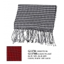 Wholesale Checker Scarf with Long Fringe - 12 DZ