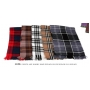 Wholesale Plaid Pashmina Scarves - 12 DZ