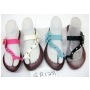 Wholesale Women's Sandals with Flower - 48 Pairs