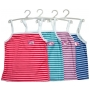 Wholesale Women's Stripe Tank Tops with Hanger - 12 Doz