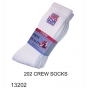 Wholesale Mens Crew Socks with USA Flag Logo - 12 Pairs