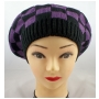 Wholesale Checker Beret Hats - Knit Berets - 1 Doz