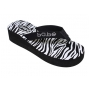 Wholesale Wedge Sandals with Zebra Stripe Sole - 36 Pairs