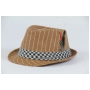 Wholesale Pinstripe Fedora Hats with Feather | 2 DZ
