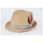 Wholesale Fedora Straw Hats with Feather | Straw Hat | 8 DZ