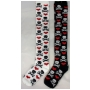 Wholesale Women's Spandex Thigh High Socks - Skull Bones and Hearts Sock | 1DZ