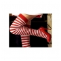 Wholesale Women's Spandex Stripe Thigh High Socks | 1DZ