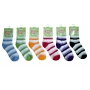 Wholesale Socks - Stripe Puffy Socks - 12 Pairs