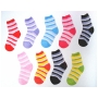 Wholesale Kid's Stripe Fuzzy Socks - Kids Puffy Socks - 20 Doz