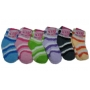 Wholesale Kid's Stripe Puffy Socks - Kids Socks - 1 Doz