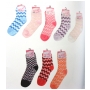 Wholesale Checker Fuzzy Socks - Puffy Socks - 20 Doz