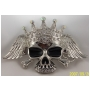 Wholesale Iced Out Bling Bling Hip Hop Rhinestone Skull Crown Belt Buckle