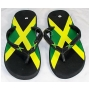Wholesale Jamaican Flag Flip Flops - Jamaican Sandals - 24 Pairs