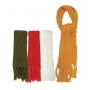 Wholesale Plush Ribbed Scarf With Fringe Ends � 6 DZ