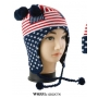 Wholesale USA Flag Earflap Hats - Ear Flap Hat - 1 Doz