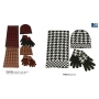 Wholesale Checker Hat Scarf Gloves Set - Winter Sets - 1 DZ