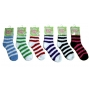 Wholesale Stripe Fuzzy Socks - Puffy Socks - 1 Dz