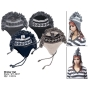 Wholesale Mohawk Earflap Hats - Mohawk Winter Hats - 1 Doz