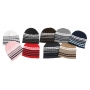 Wholesale Stripe Checker Beanie Hat - Beanie Hats - 24 Doz