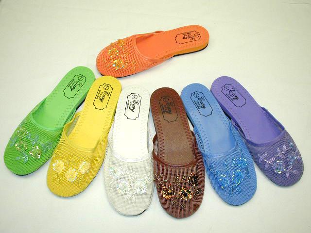 Wholesale Women's Chinese Mesh Flip Flops - 100 Pairs