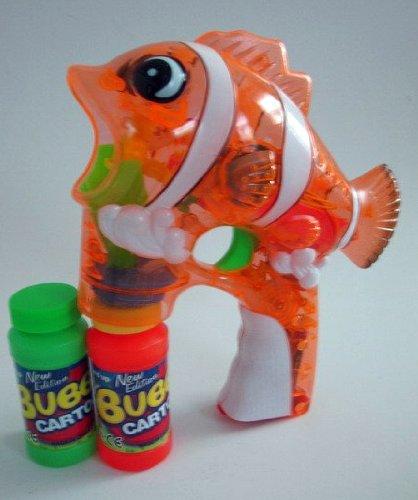 Wholesale Fish Light Up BUBBLE GUN â?? Cartoon Fish BUBBLE GUN - 48 GUNs